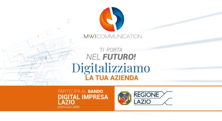 Digital Impresa Lazio: finanziamenti fino a 25mila euro per la digitalizzazione