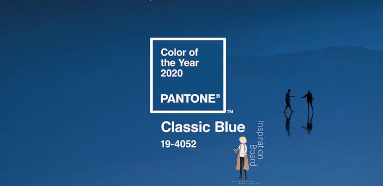 INSPIRATION BOARD | COLORE DELL'ANNO 2020 PANTONE CLASSIC BLUE