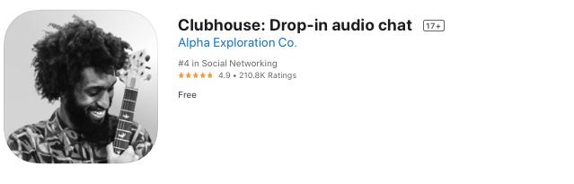 Clubhouse su Apple Store